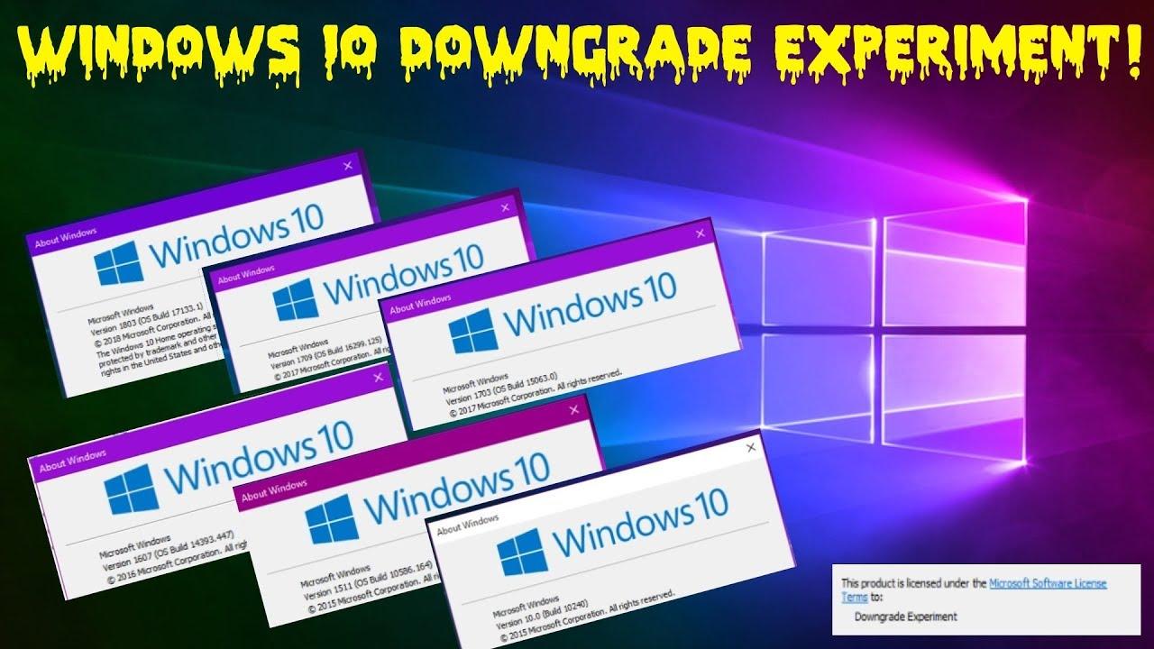 Windows 10 Downgrade Experiment on a VM!