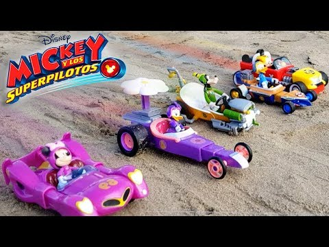 Juguetes MICKEY Y LOS SUPER PILOTOS CARRERA EN LA PLAYA Disney Junior MICKEY AND THE ROADSTER RACERS