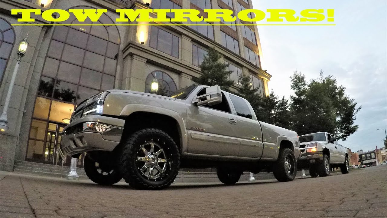 All Chevy chevy 1500 with tow mirrors : New Body Tow Mirrors on 99-06 Chevy and GMC - YouTube