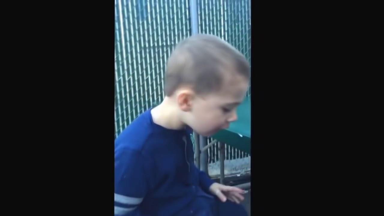 kid drops ice cream so sad!!!!!! - YouTube