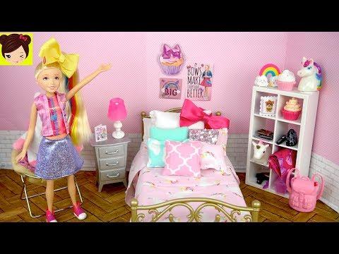 Barbie Jojo Siwa Muñeca Rutina de Mañana con DIY  Habitacion de Unicornios - Поисковик музыки mp3real.ru
