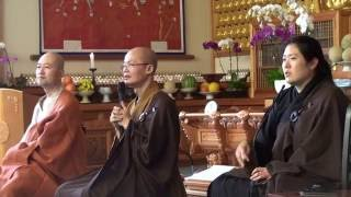 Chan Meditation at Korea Sah Buddhist Temple in Korea Town - Dharma Talk - 09/11/2016