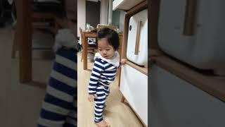 11개워 아기, 밥솥 증기소리 리액션 ㅋㅋ : baby…
