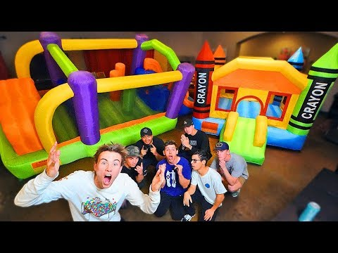 OUR INDOOR INFLATABLE OBSTACLE COURSE *BOUNCE HOUSE*