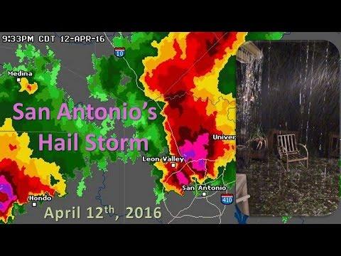 San Antonio's Record Hail Storm   2016 - YouTube