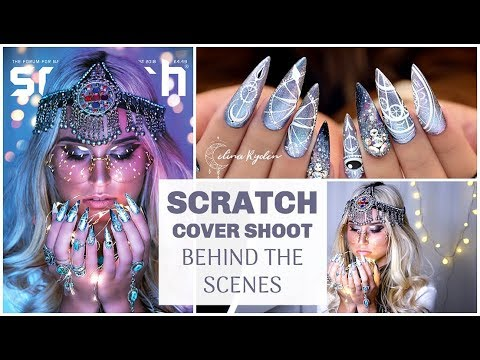 MY SCRATCH MAGAZINE COVER | NAILS, PHOTOHRAPGHY AND EDITING!