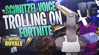 Schnitzel From Chowder Plays Fortnite! (Voice Trolling)