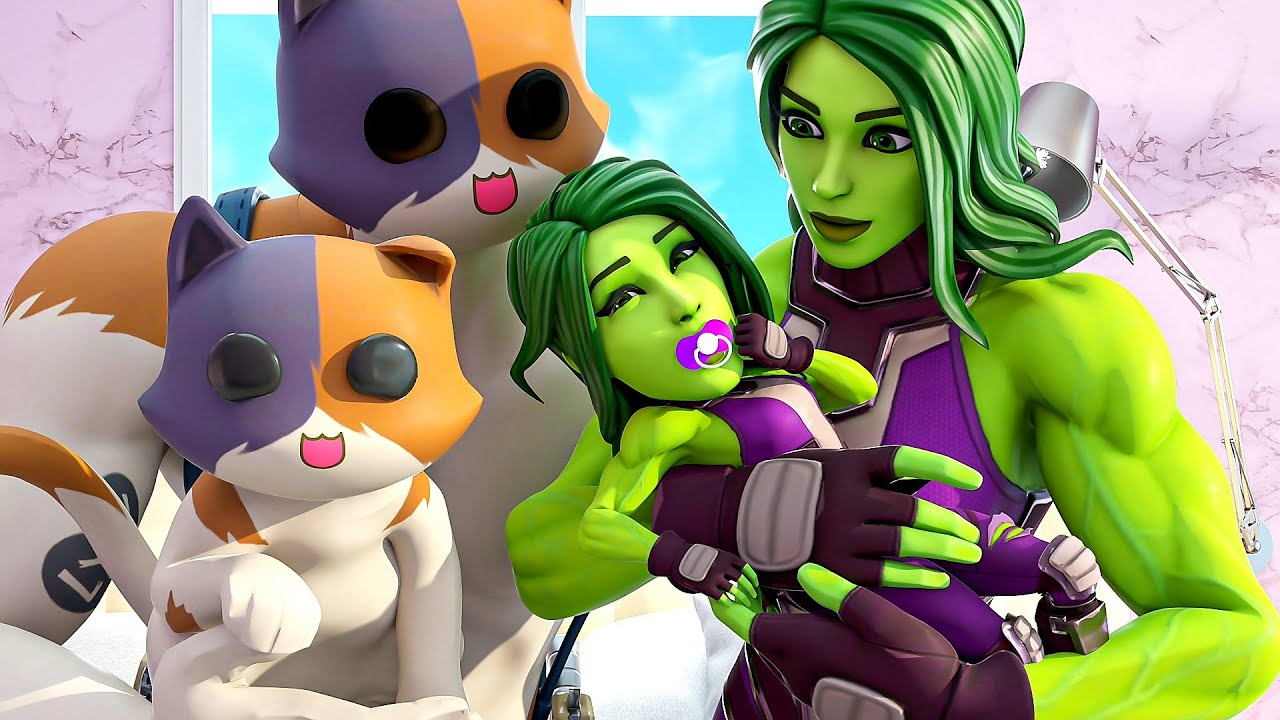 Download SHE-HULK & MEOWSCLES HAVE A BABY.... ( Fortnite Short )