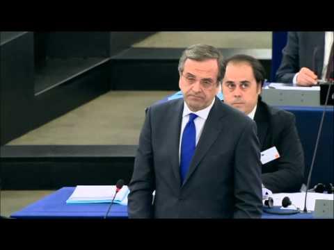 Greek Presidency priorities presented at European Parliament by Prime Minister A. Samaras 15 1 2014