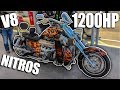 1200HP TWIN-SUPERCHARGED V8 NITROUS MOTORCYCLE?!