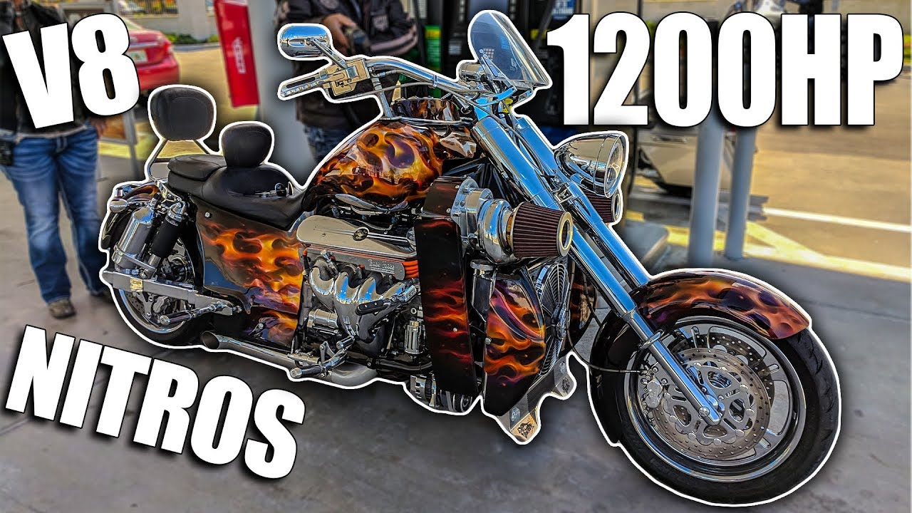 1200hp Twin Supercharged V8 Nitrous Motorcycle Youtube