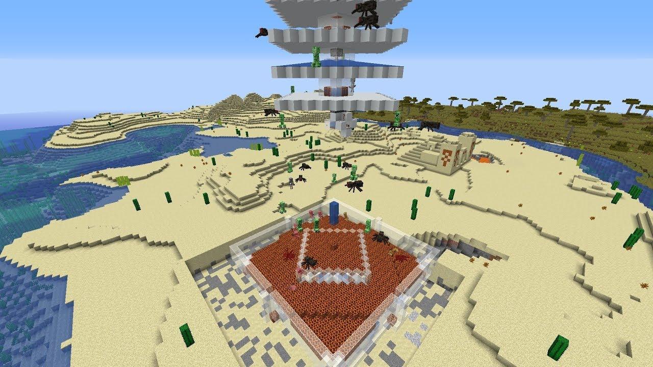 dispenserless overworld mob farm 1 13 1 17 500 drops h