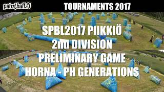 Horna vs PH Generations - SPBL2017 Piikkiö