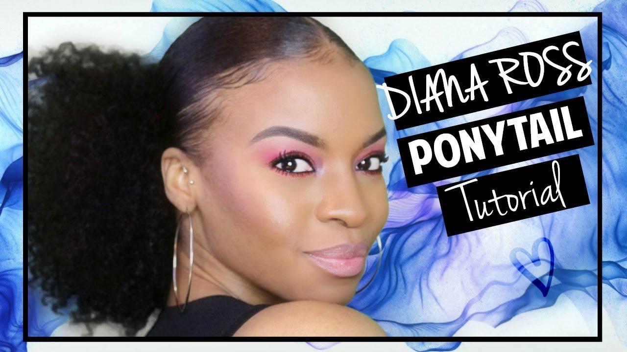 Diana Ross Inspired Ponytail Hair Tutorial Youtube