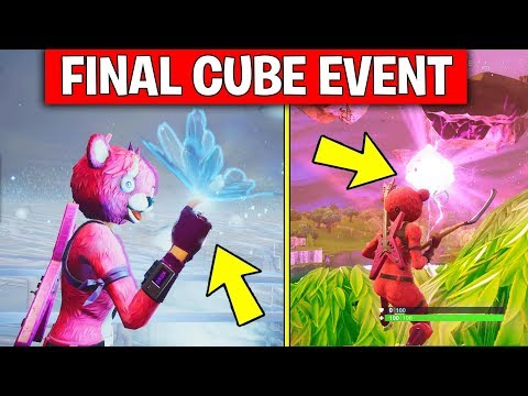 Fortnite Final Cube Event Gameplay...NEW MAP UPDATE: LEAKY LAKE Is AMAZING! (Fortnite Battle Royale)