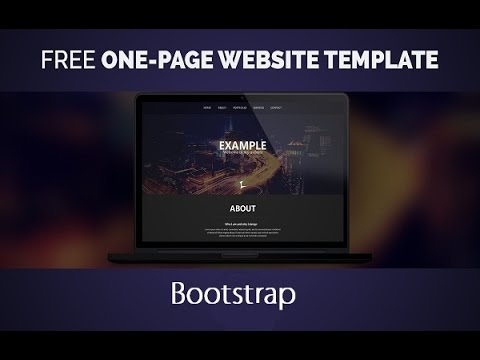 Bootstrap One Page Website - Responsive Web Design With Twitter