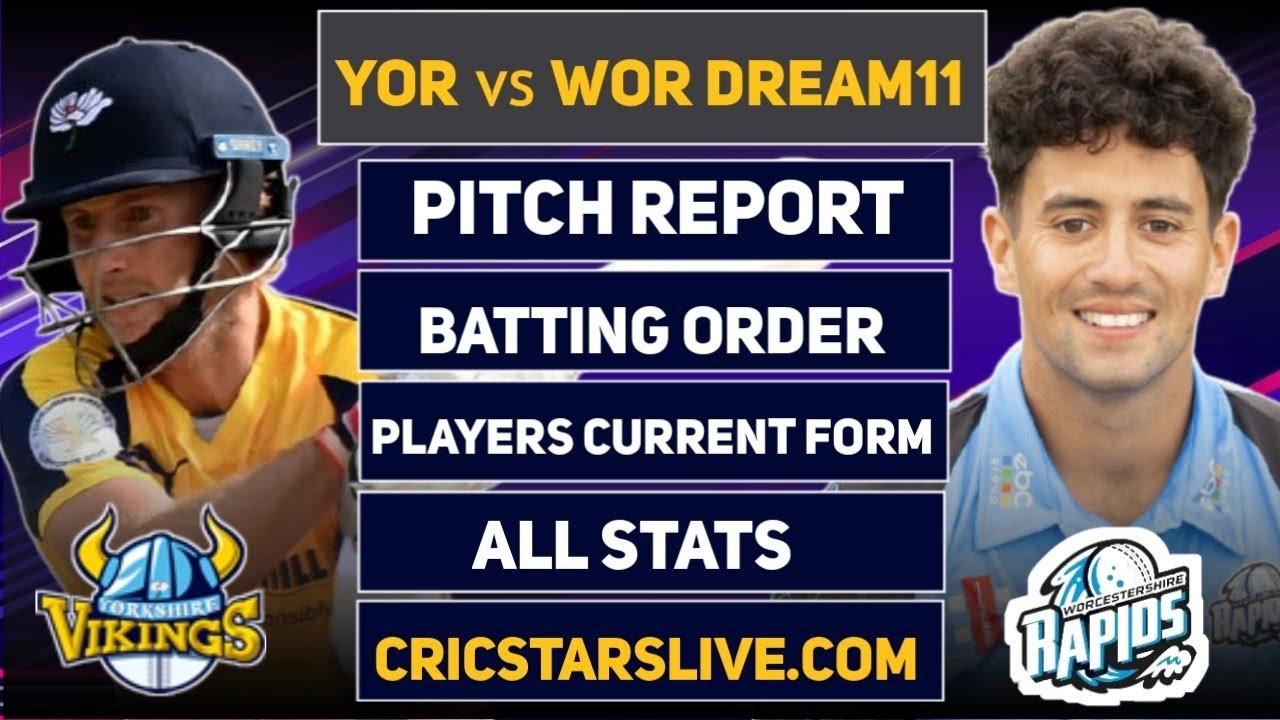 YOR vs WOR Dream11 Prediction   YOR vs WOR Dream11   YOR vs WOR Dream11 Team