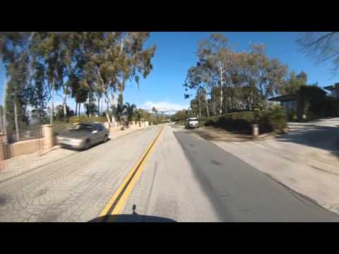 Drive on Sunset Dr in Redlands CA after winter storm Feb 2013. The Point. Contour camera