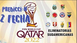 Predicción de las Eliminatorias Rumbo a Qatar 2022 ! FECHA 2