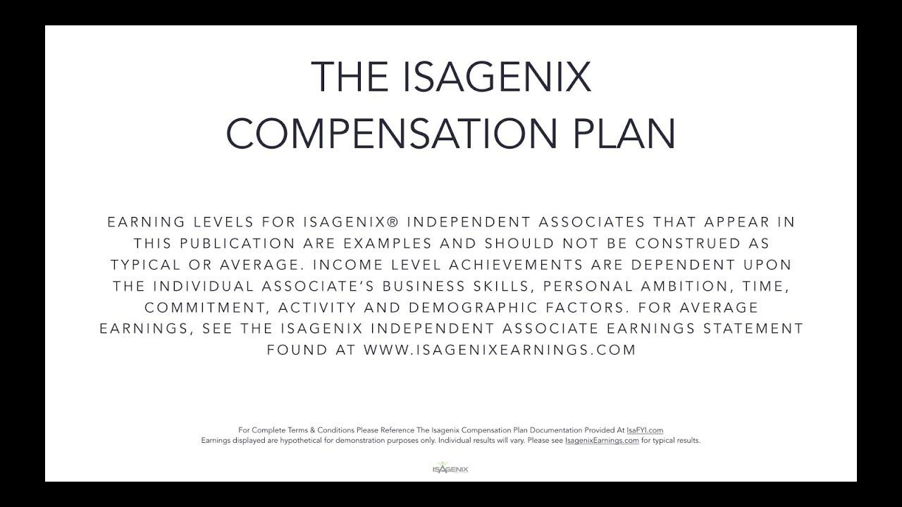Isagenix Comp Plan EU
