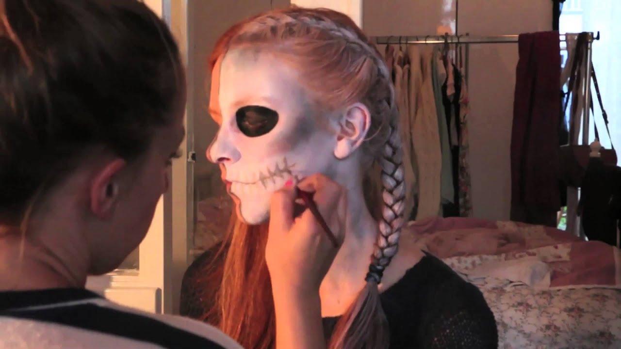 expedia pioneer skelet schminken voor halloween youtube. Black Bedroom Furniture Sets. Home Design Ideas