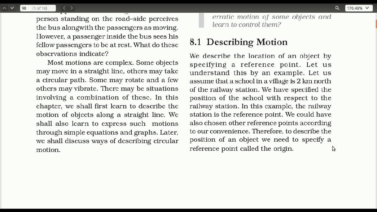 Motion - Science CBSE Class 9 - Chapter 8 - Part 1 - (in Hindi) - V14 07 16