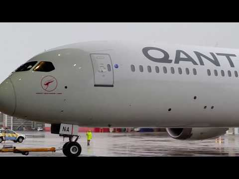 Qantas Boeing 787-9 Dreamliner VH-ZNA Great Southern Land Arrival Event
