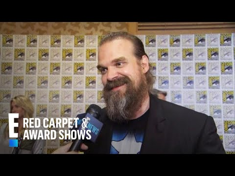 """David Harbour Talks Going From """"Stranger Things"""" to """"Black Widow""""   E! Red Carpet & Award Shows"""
