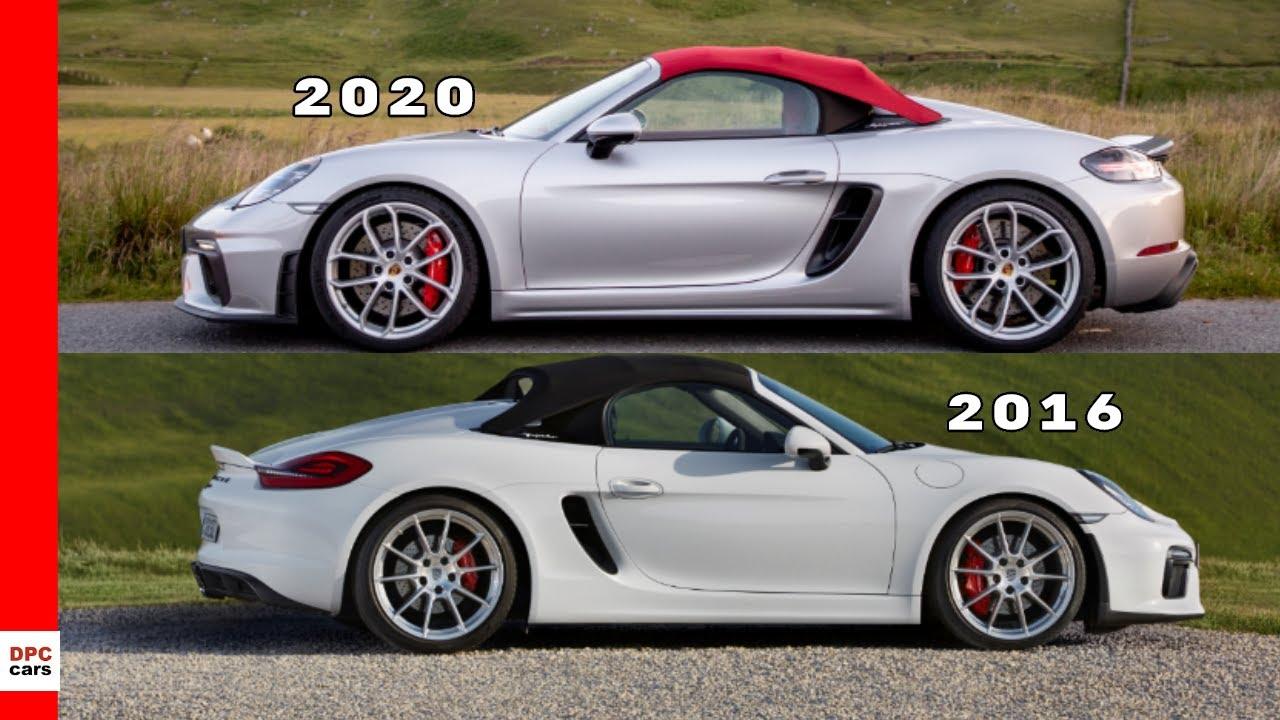 2020 Porsche 718 Spyder vs Older 2016 Porsche Boxster Spyder