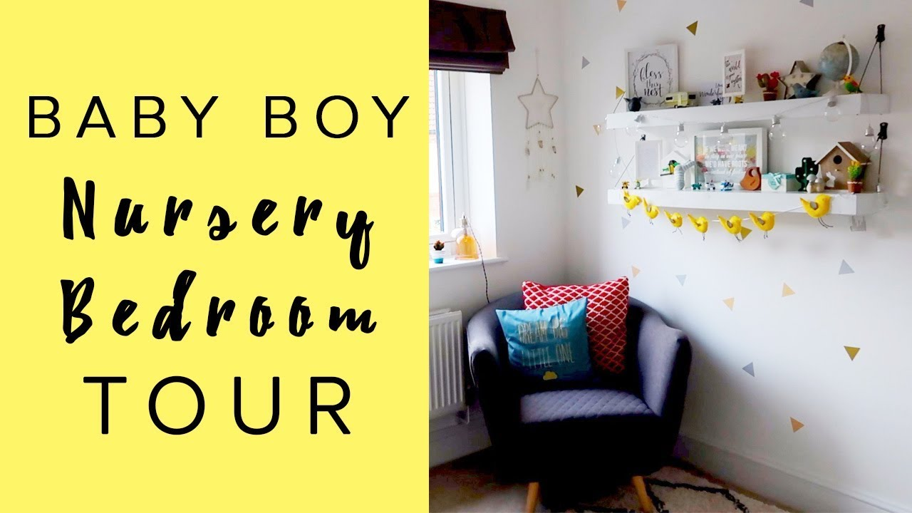 HOME TOUR | NURSERY ROOM TOUR/BEDROOM - BABY BOY - YouTube