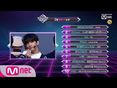 What are the TOP10 Songs in 2nd week of February? M COUNTDOWN 190214 EP.606