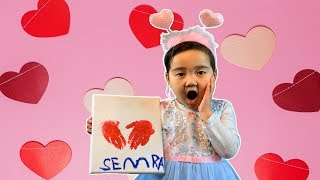 Semra Paint Surprise Valentine's Day Heart for Daddy
