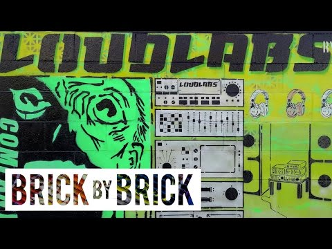 Stencil Graffiti with LOUDLABS | BRICK-by-BRICK