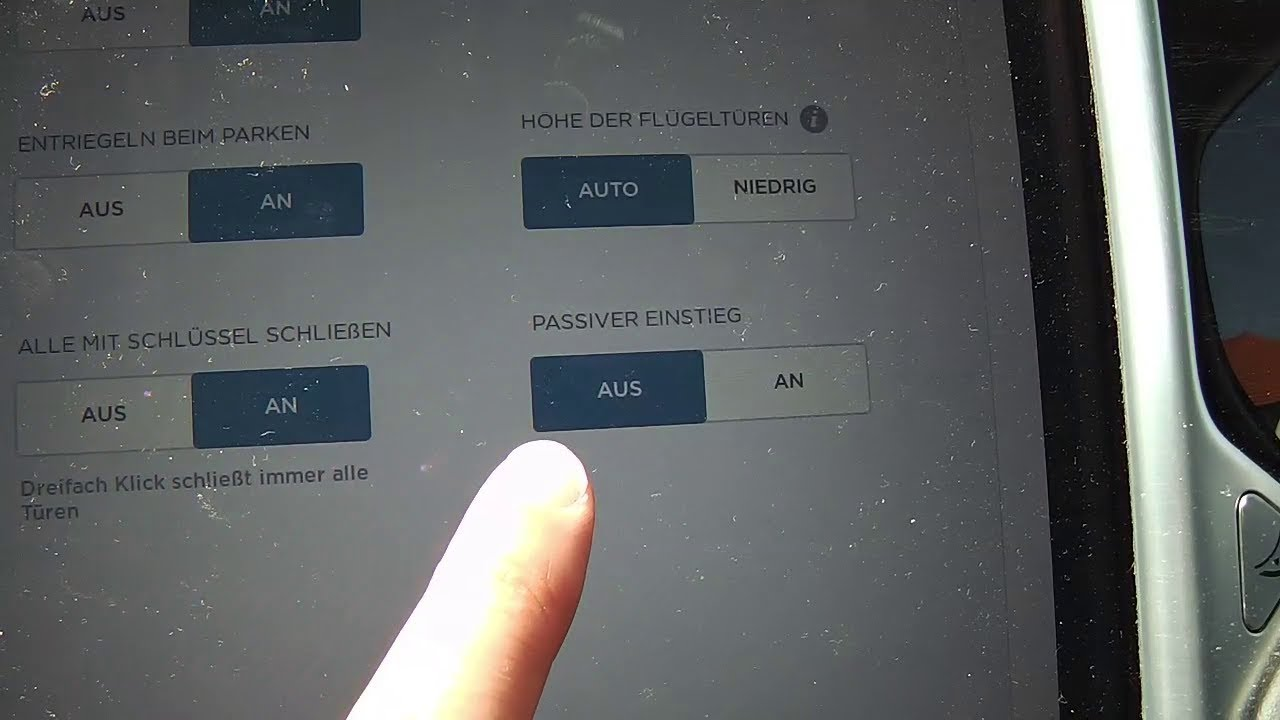 Tesla Funktion: Passiver Einstieg / Passive Entry (v8.1 2017.32.6 ...