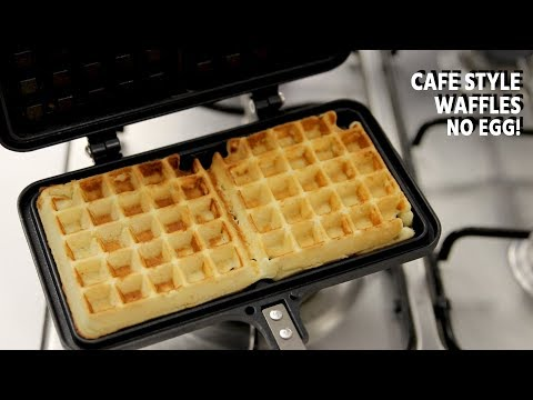Waffle Recipe - Eggless Cafe Style NO EGG Waffles - CookingShooking