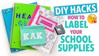 Creative Hacks to Label Your School Supplies  ~ Back to School - HGTV Handmade