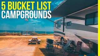 Top 5 Best Campgrounds In America (MUST SEE Campsites for RV Living)