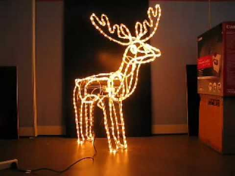 Christmas Lights Reindeer With Moving Head Youtube