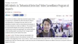 "DHS Admits to ""Behavioral Detection"" Video Surveillance Program at Airports"