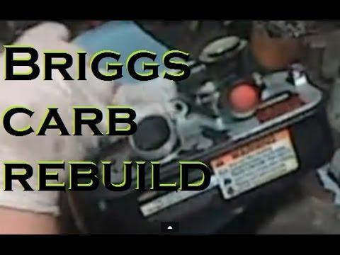 Briggs and Stratton in the Tank plastic CARB rebuild