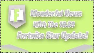 Fortnite Stw News Update! Build Limit news and Twine Rewards Increasing!