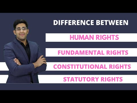 Difference between Fundamental Rights, Human Rights, Legal Rights and Constitutional Rights in Hindi