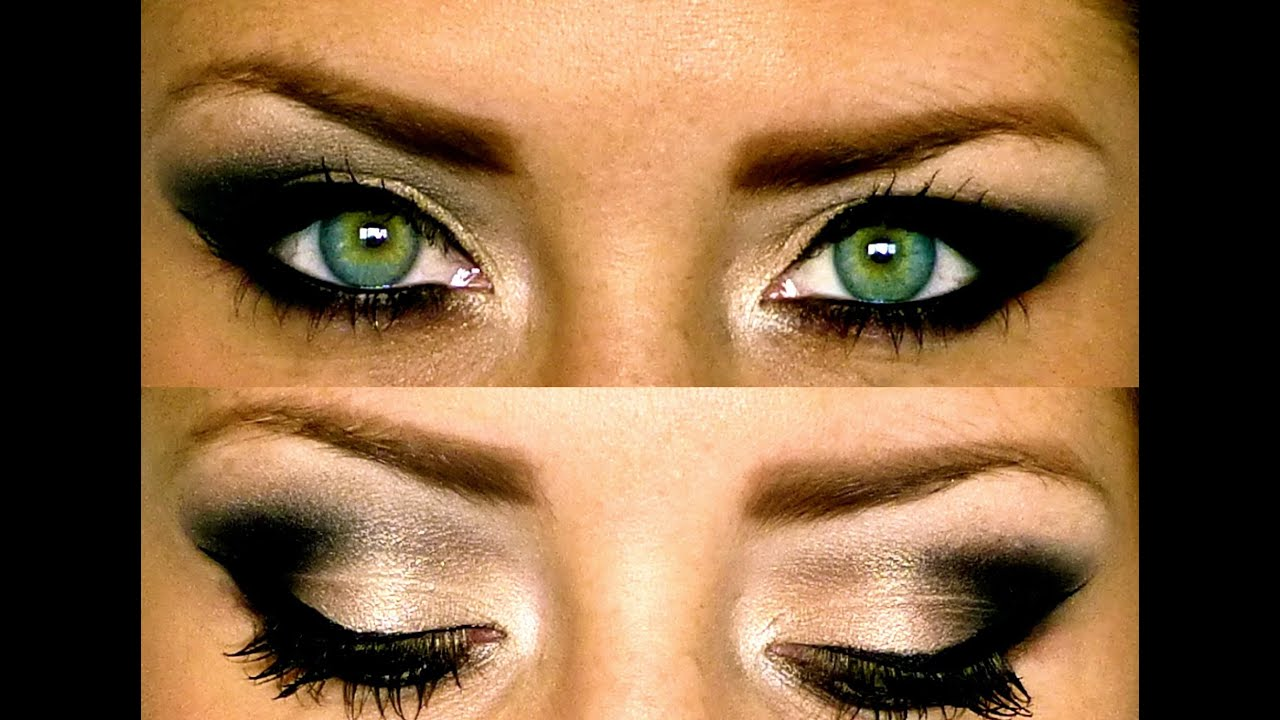 black smokey eye makeup tutorial youtube. Black Bedroom Furniture Sets. Home Design Ideas