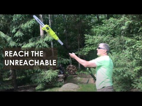 Sun Joe Electric Pole Chain Saw - Review and Demo - DIY