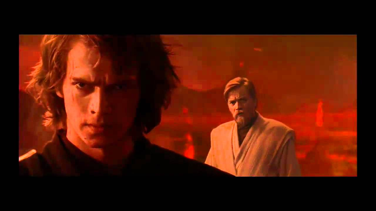 Star Wars Anakin Jumps With A Red Lightsaber Hd Youtube