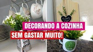 Ideias FÁCEIS e BARATAS de decoração para COZINHA- DIY
