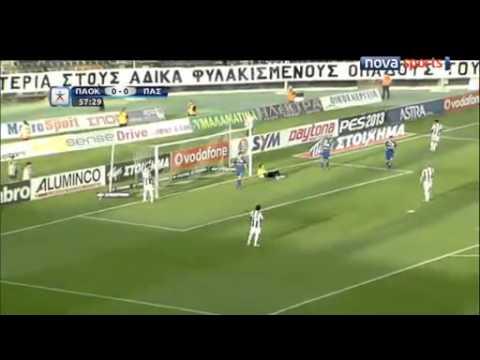 ΠΑΟΚ-ΠΑΣ Γιάννινα 0-1 superleague playoffs 2013 HIGHLIGHTS
