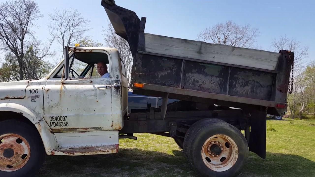 1967 Chevrolet C50 dump truck - YouTube