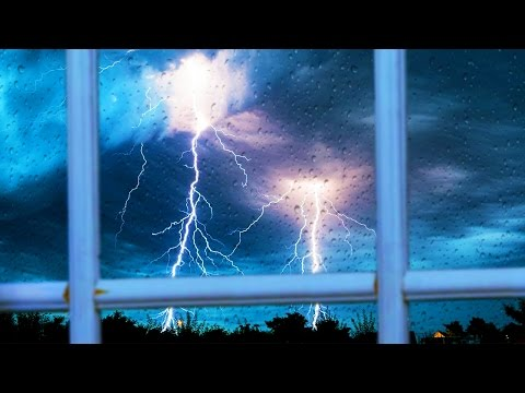 STORMY NIGHT | Rain & Thunder | Peaceful Nature Sounds For Studying or Sleep | White Noise 10 Hours