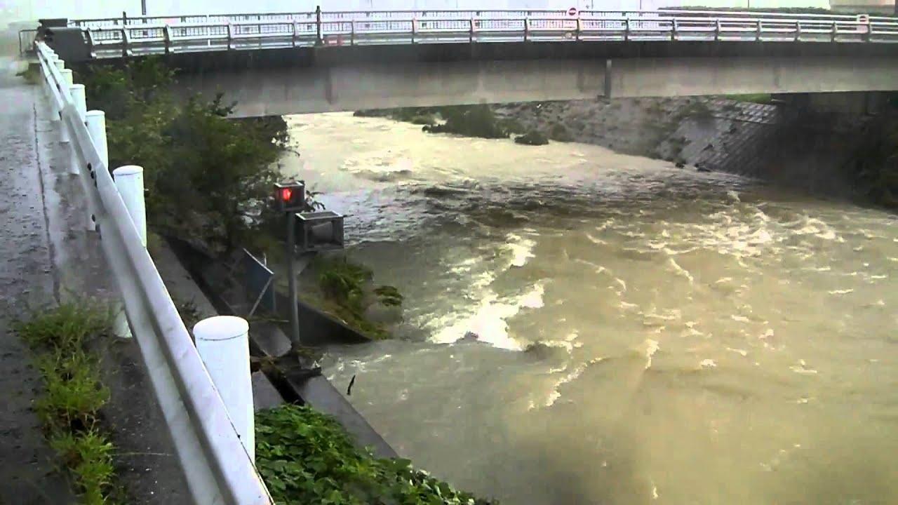 天白川増水 2011年9月20日 15時...